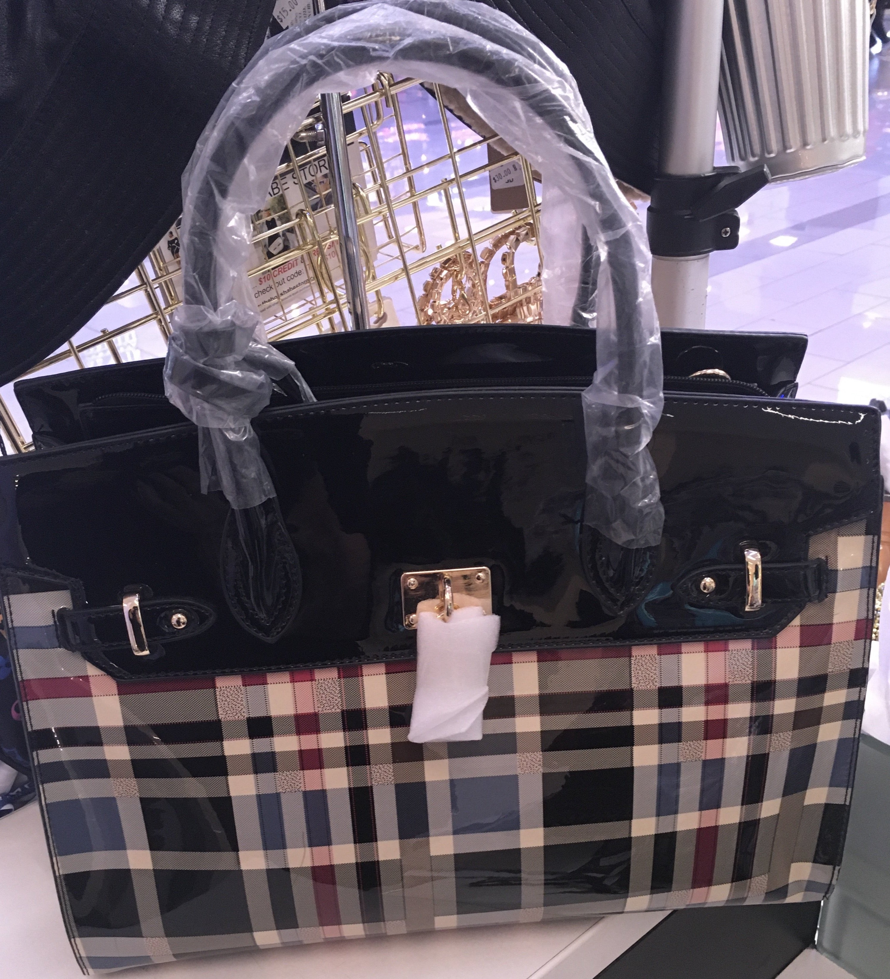 Burberry Inspired 3 Piece  Shouldier Purse Bag