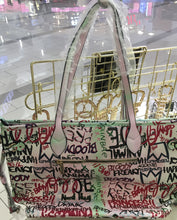 Gucci Inspired Graffiti Tote Purse Bag