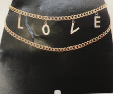 "Rhinestone Floating Chain ""LOVE"" Belt"