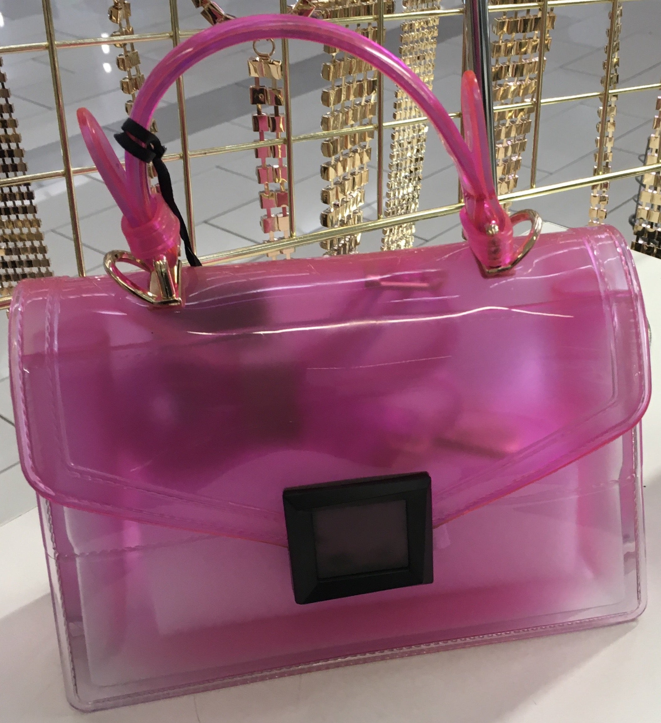 Clear Plastic Rubber Purse Bags