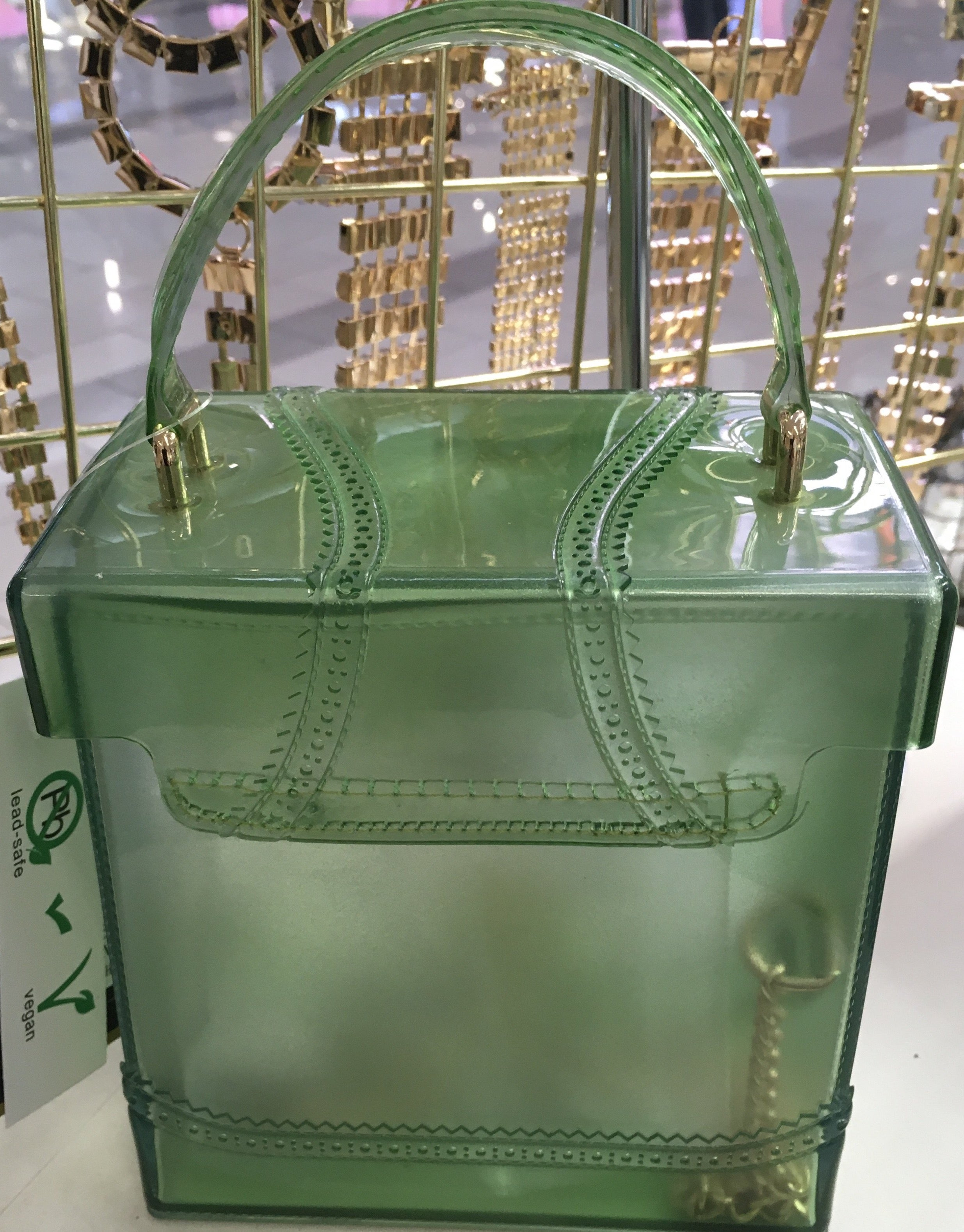 Clear Plastic Rubber Box Purse Bags