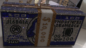 Rhinestone Money Bags Purse Bag Clutch