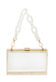 Rectangle Transparent Plastic Clutch