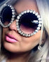 2020 Round Rhinestone Sunglasses Women Luxury Brand Glasses