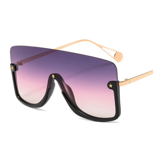 JUST IN Oversized Square Women Goggle Sunglasses