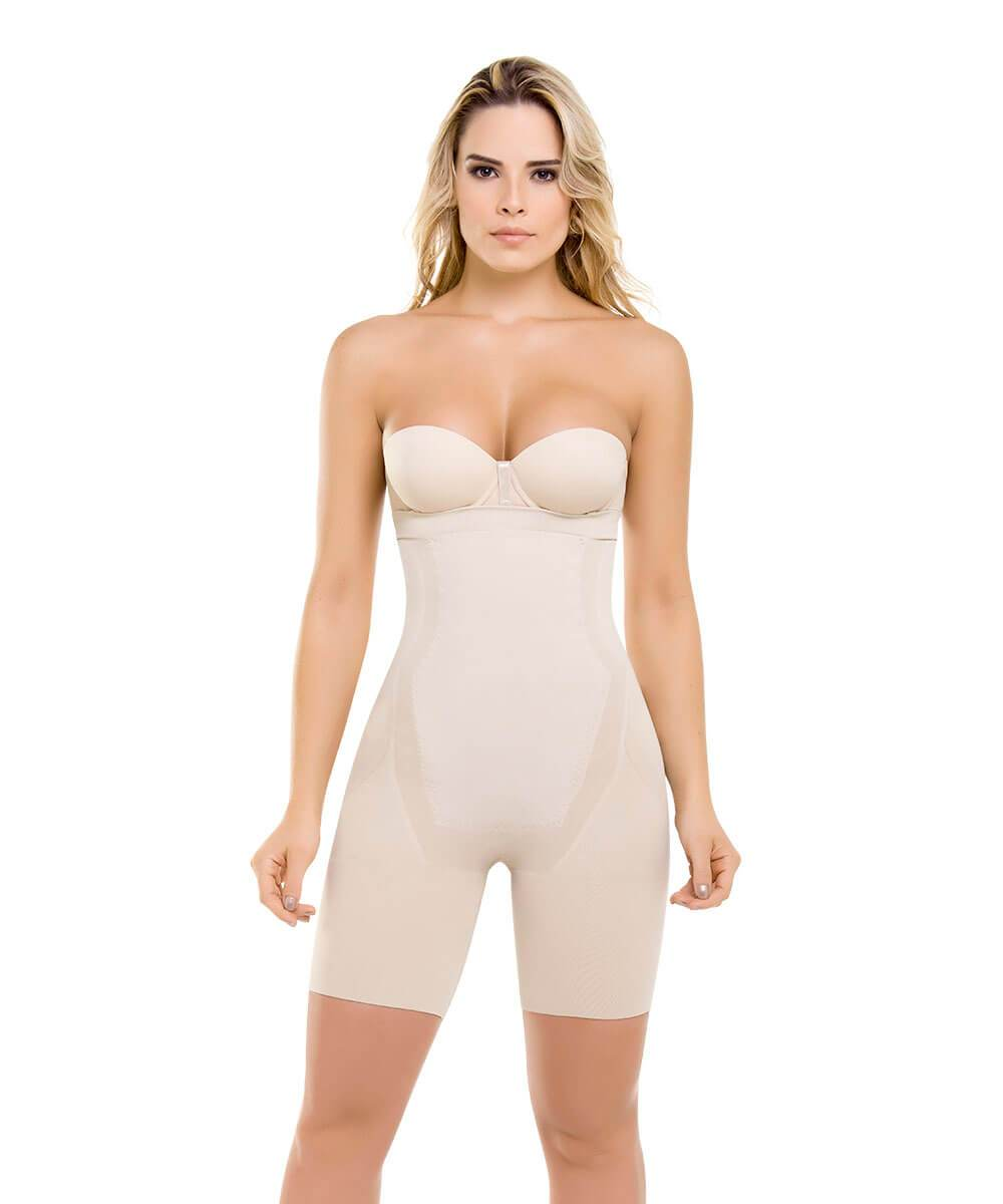 Seamless Strapless Thermal Full Body Shaper