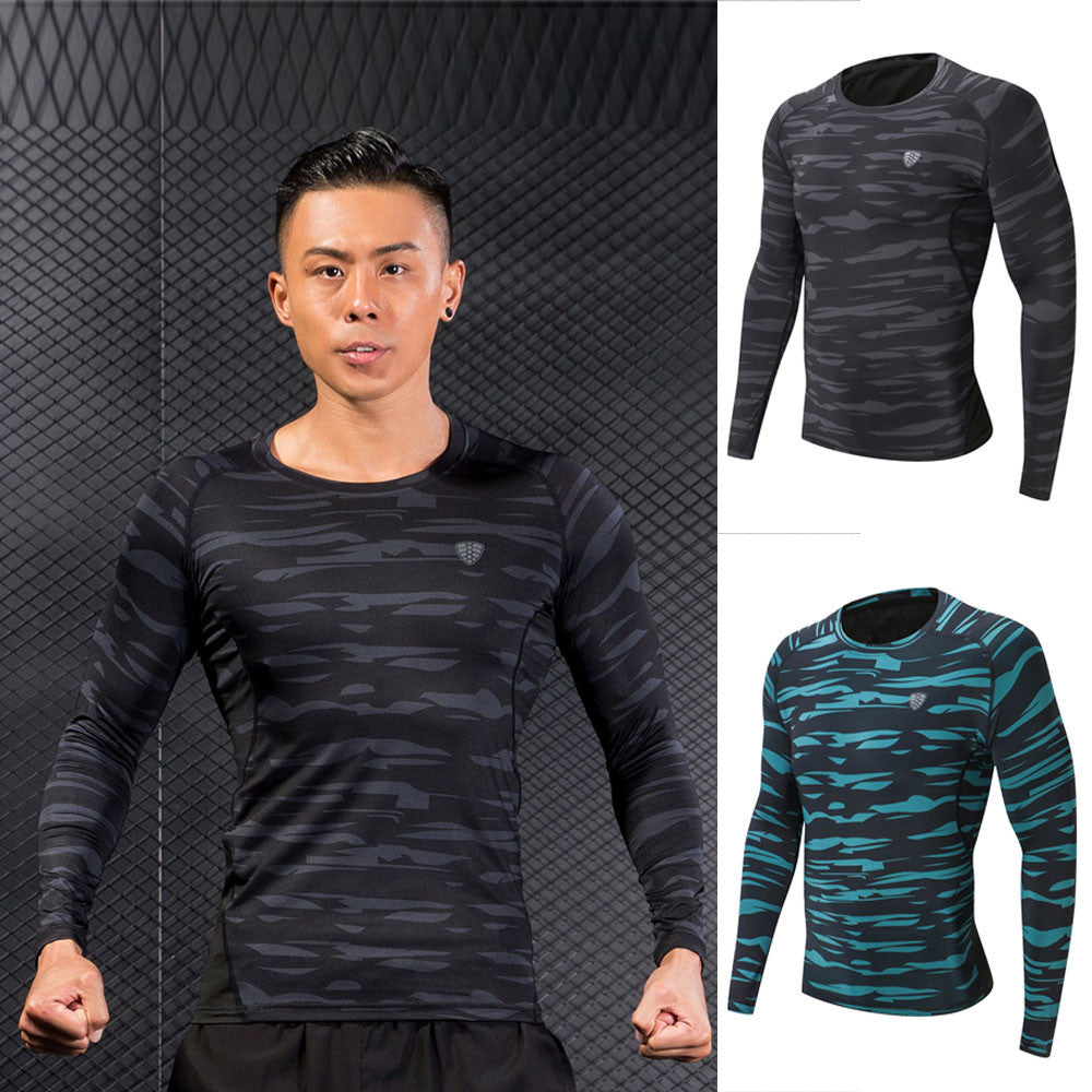 Man Workout Leggings Fitness Sports Gym Running Yoga Athletic Shirt Top Blouse