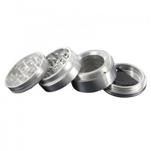 AEROSPACED 4 Piece Grinder/Sifter with Removable Screen - VapesRush