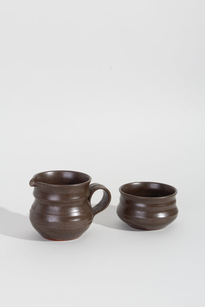 CERAMIC MILK JUG & SUGAR BOWL | SWEET CHARITY STORE | AUCKLAND NZ