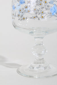 FLORAL WINE GLASS, 6 SET | SWEET CHARITY STORE | AUCKLAND NZ