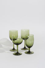 GREEN WINE GLASS, 4 SET | SWEET CHARITY STORE | AUCKLAND NZ