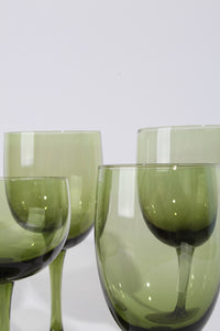 GREEN WINE GLASS, 4 SET