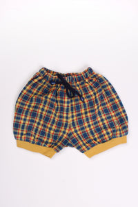 TARTAN BALLOON SHORTS, 12M | SWEET CHARITY STORE | AUCKLAND NZ