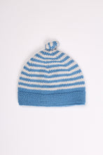 BLUE STRIPED BEANIE, 6-12M | SWEET CHARITY STORE | AUCKLAND NZ