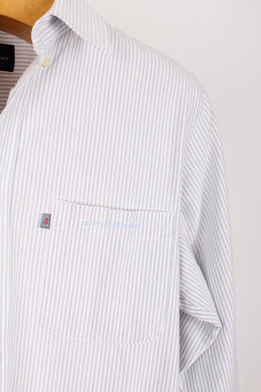 COMO & STOCKY LONDON STRIPE SHIRT, SIZE S | SWEET CHARITY STORE | AUCKLAND NZ