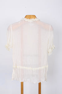 CHLOROFILE SHEER BLOUSE, SIZE 14 | SWEET CHARITY STORE | AUCKLAND NZ