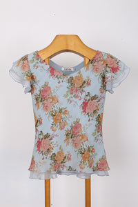 FLORAL TOP, SIZE S | SWEET CHARITY STORE | AUCKLAND NZ