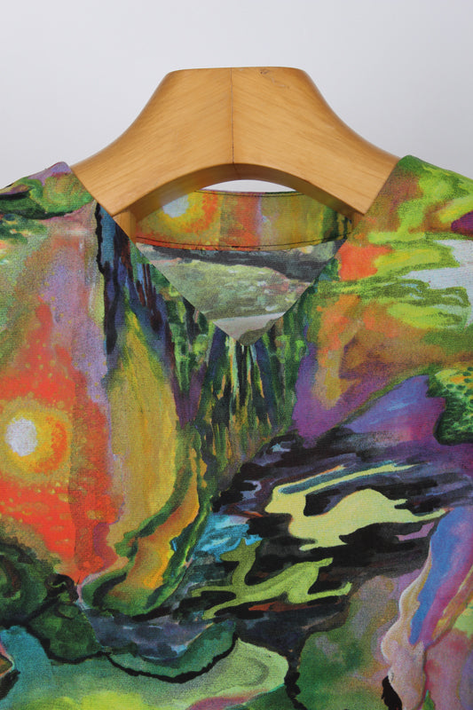 HOMEMADE COLOURFUL TOP, SIZE 12 | SWEET CHARITY STORE | AUCKLAND NZ