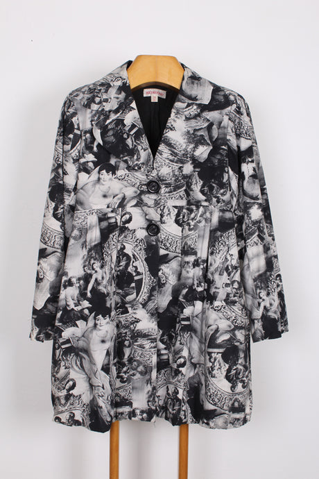 REDHEAD PRINTED COAT, SIZE 14 | SWEET CHARITY STORE | AUCKLAND NZ