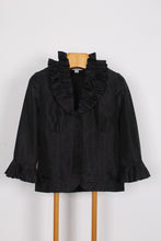 QUEENSPARK RUFFLE COLLAR JACKET, SIZE 10 | SWEET CHARITY STORE | AUCKLAND NZ