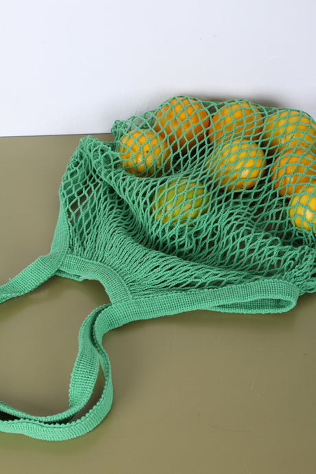 COTTON STRING MARKET BAG, GREEN | SWEET CHARITY STORE | AUCKLAND NZ
