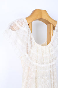 VINTAGE 80'S LACE DRESS, SIZE 10 | SWEET CHARITY STORE | AUCKLAND NZ