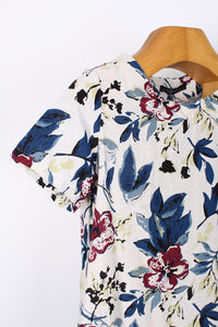 FLORAL COTTON DRESS, SIZE L | SWEET CHARITY STORE | AUCKLAND NZ