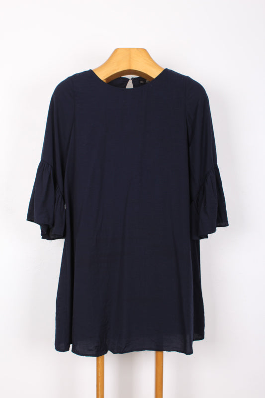 ZARA BASICS GATHERED SLEEVE DRESS, SIZE S | SWEET CHARITY STORE | AUCKLAND NZ