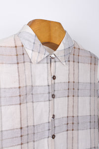 CHECK SHIRT W/ MOTHER OF PEARL BUTTONS, SIZE 12 | SWEET CHARITY STORE | AUCKLAND NZ