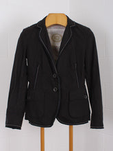 BLACK STRIPED IQ BLAZER, SIZE 36 | SWEET CHARITY STORE | AUCKLAND NZ