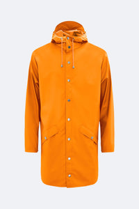 RAINS FIRE ORANGE JACKET, SIZE XS/S, NEW | SWEET CHARITY STORE | AUCKLAND NZ