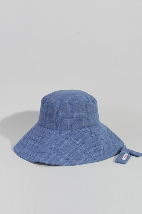 SWEET CHARITY X MAGGIE MARILYN HAT, BLUE CHECK | SWEET CHARITY STORE | AUCKLAND NZ