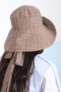 SWEET CHARITY X MAGGIE MARILYN HAT, FAWN CHECK | SWEET CHARITY STORE | AUCKLAND NZ