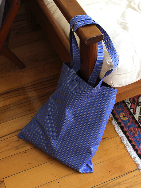 SWEET CHARITY X MAGGIE MARILYN TOTE BAG, BLUE STRIPE | SWEET CHARITY STORE | AUCKLAND NZ