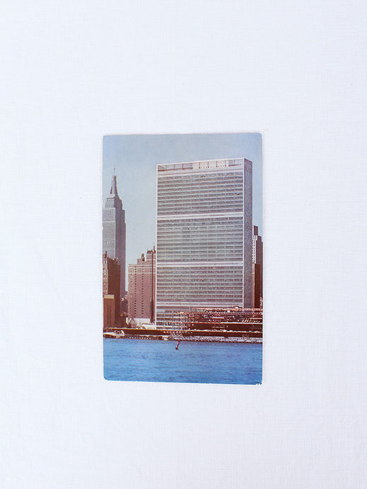 VINTAGE POSTCARD - UNITED NATIONS BUILDING, NEW YORK CITY | SWEET CHARITY STORE | AUCKLAND NZ