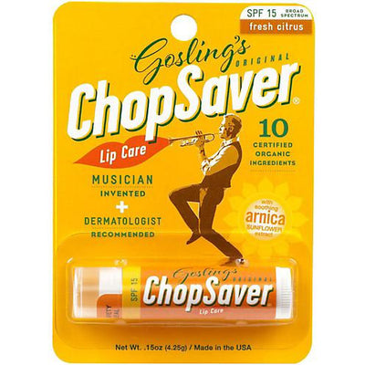 ChopSaver Gold Lip Balm with SPF 15 Protection in Packaging