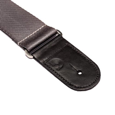 "D'Addario 2"" Premium Woven Guitar Strap - Silver 