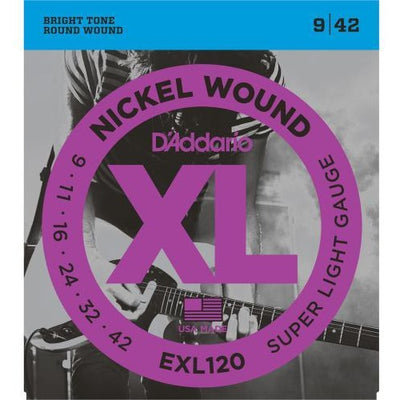 D'Addario EXL120 Super Light Gauge XL Nickel Wound Electric Guitar Strings