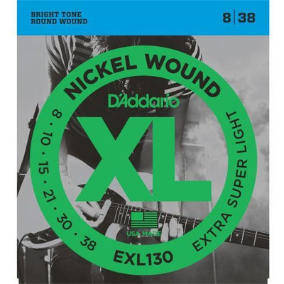 D'Addario EXL130 Extra Super Light Gauge XL Nickel Wound Electric Guitar Strings