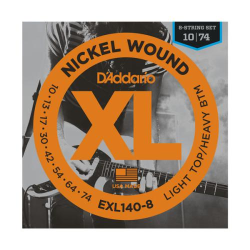 D'Addario EXL140 Nickel Wound Light Top/Heavy Bottom 8-String Electric Guitar Strings | Kincaid's Is Music
