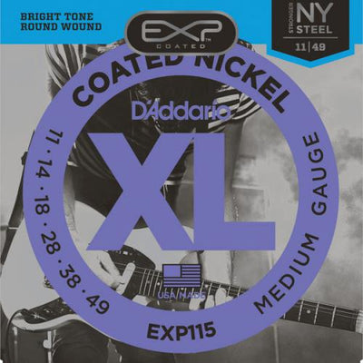 D'Addario EXP Coated Nickel Electric Guitar Strings | Kincaid's Is Music
