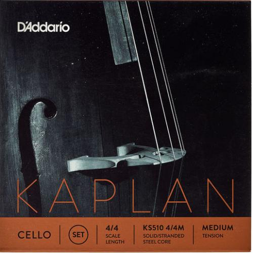 D'Addario Kaplan Cello 4/4 Medium Tension String Set | Kincaid's Is Music