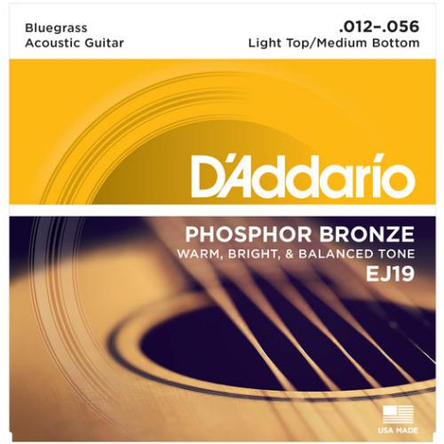 D'Addario EJ19 Phosphor Bronze Acoustic Guitar Strings, Two Pack (ERPLAIN)