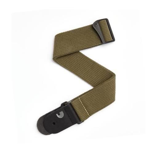 "D'Addario Planet Waves 2"" Cotton Guitar Strap - Army Green"