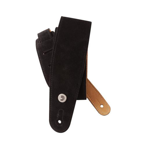 D'Addario Planet Waves Suede Guitar Strap - Black | Kincaid's Is Music