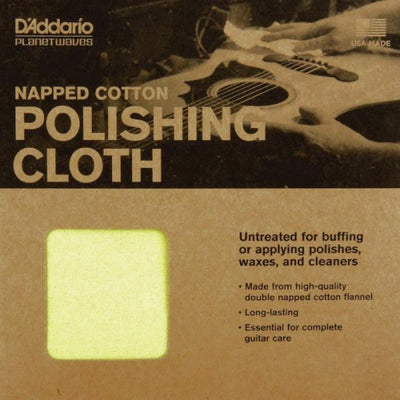 D'Addario Planet Waves Untreated Cotton Polishing Cloth Packaging