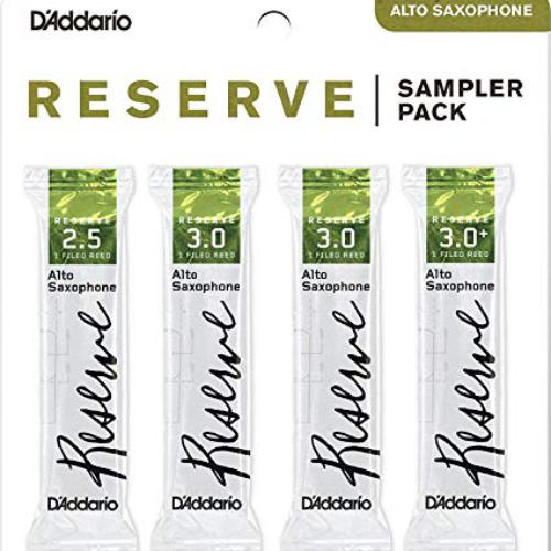 D'Addario Reserve Alto Saxophone Reed Sampler, Pack of 4 | Kincaid's Is Music