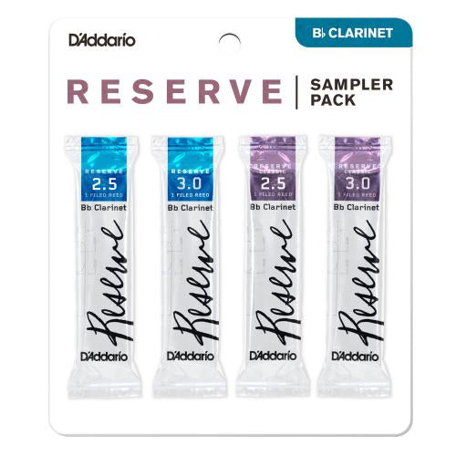 D'Addario Reserve Bb Clarinet Reed Sampler, Pack of 4 | Kincaid's Is Music