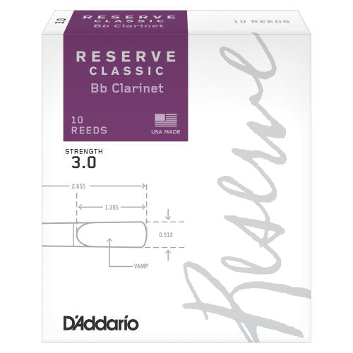 D'Addario Reserve Classic Bb Clarinet Reeds | Kincaid's Is Music