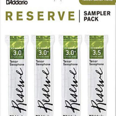 D'Addario Reserve Tenor Saxophone Reed Sampler, Pack of 4
